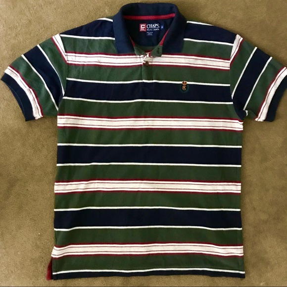 6fe75bfe6f6 Ralph Lauren Shirts | Vintage Chaps Multicolor Striped Polo | Poshmark